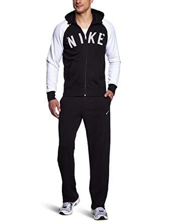 Nike Reg ad ft Hooded Warm up - Chándal, Color Negro, Gris Oscuro ...
