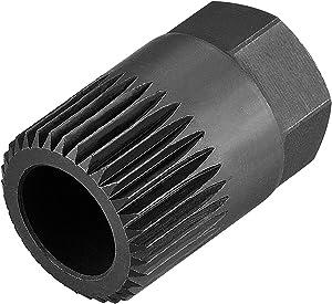Mrcartool V-Belt Alternator Clutch Pulley Socket 33 Spline Removal Tool Compatible with VW GOLF, VENTO, PASSAT, AUDI A3, AND VOLVO