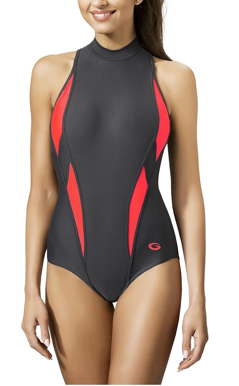 Gwinner Badeanzug Sportbadeanzug Schwimmanzug Bademode Damen einteilig sehr  bequem und elastisch, mit weichen, herausnehmbaren Körbchen, aus  hochwertigem ... 81a835fdde