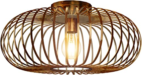 Tangkula Metal Flush Mount Ceiling Light