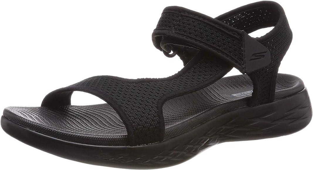 5585f5abf030 Skechers On The GO 600 Rubix Womens Sandals Black 5