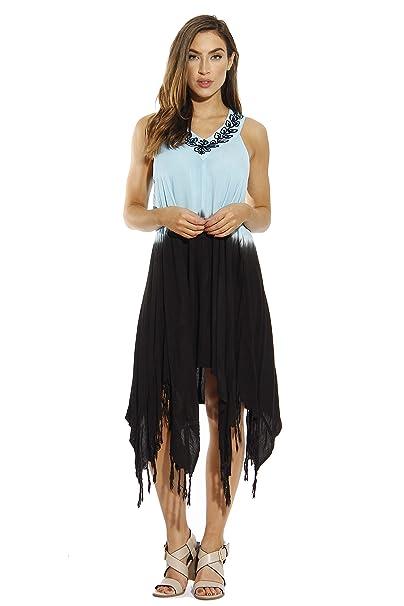 7716309bd3d Riviera Sun Tie Dye Hanky Dress Summer Dresses for Women at Amazon Women s  Clothing store