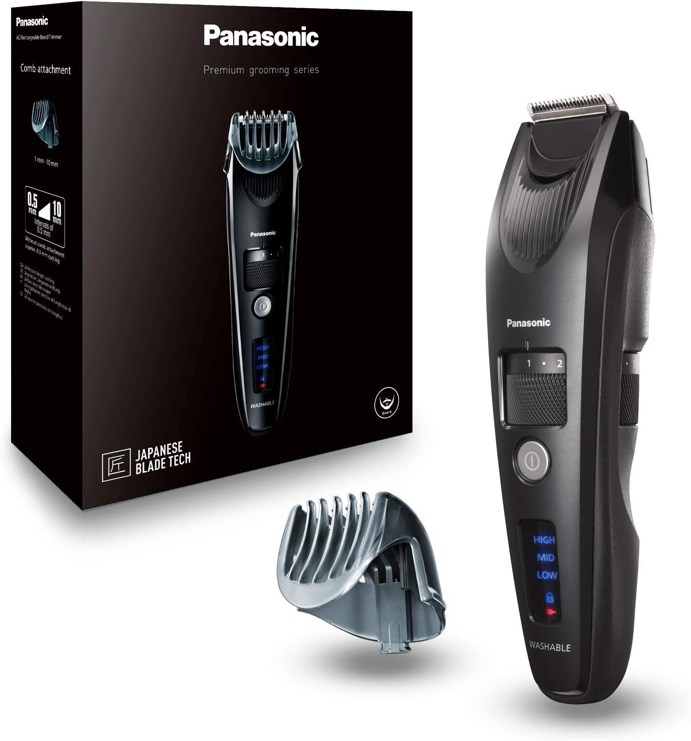 Panasonic ER-SB40-K803 - Barbero Premium de Precisión (Motor Ultrarrápido, Carga Rápida, Accesorio Adicional, Con o Sin cable, Motor Lineal, 19 Longitudes) Negro