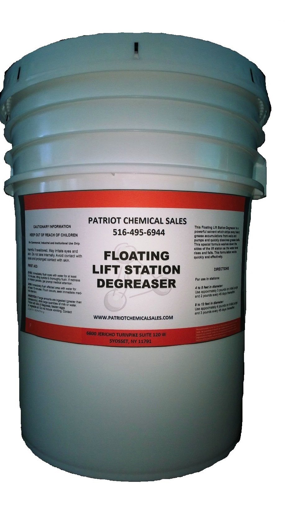 Patriot Chemical Sales 25 Pounds Floating Lift Station Degreaser Granule Industrial Strength by Patriot Chemical Sales
