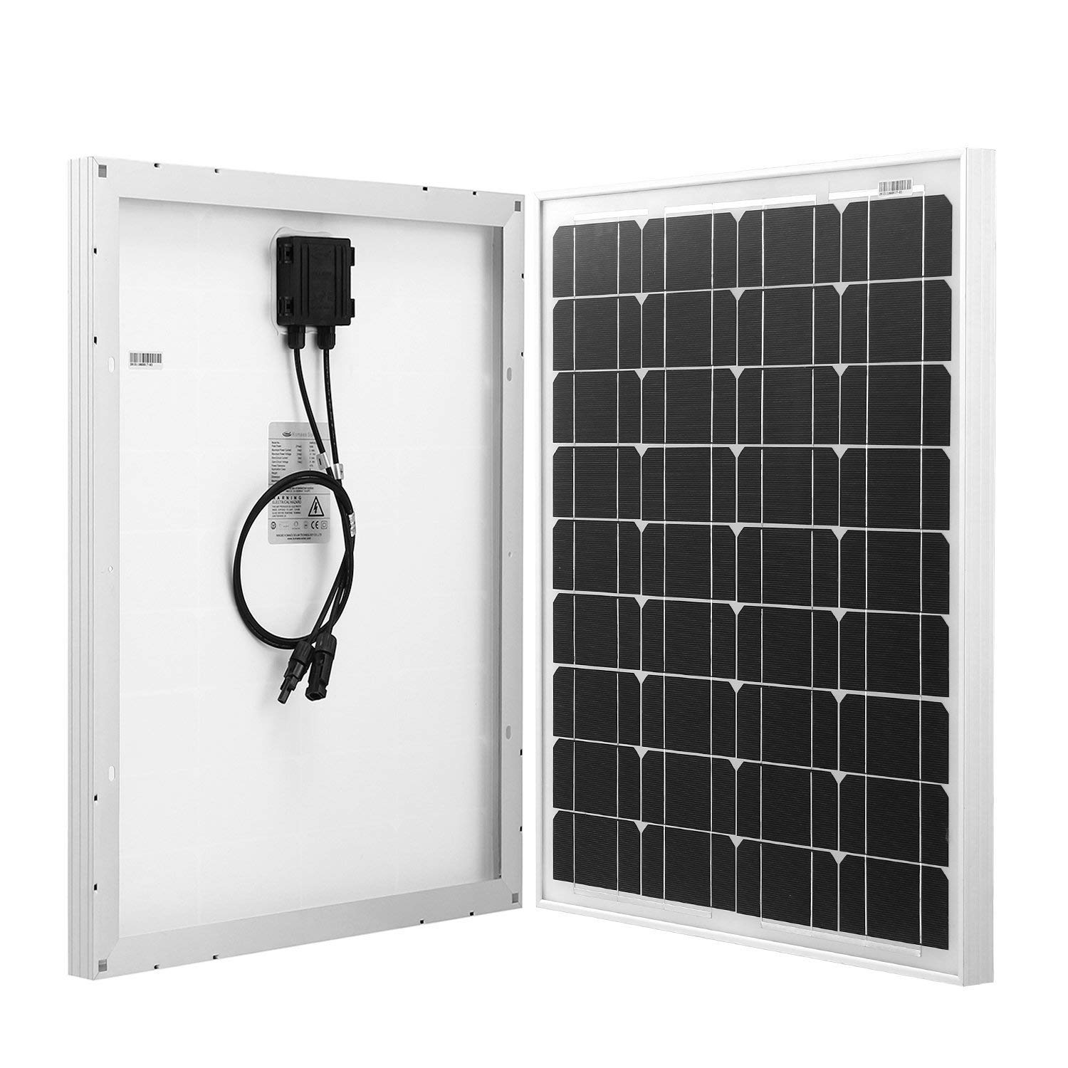 Komaes 50 Watts 12 Volts Monocrystalline Solar panel