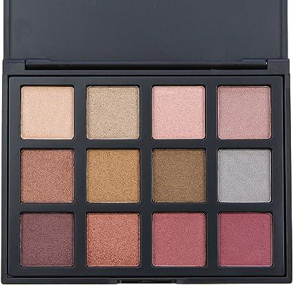 Paleta de sombras para ojos Lover Bar brillantes, 12 colores cálidos, mate, neutral, ahumados, resistentes al agua: Amazon.es: Belleza