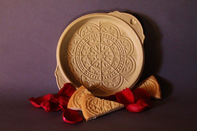 Brown Bag Rose Window Shortbread Cookie Pan