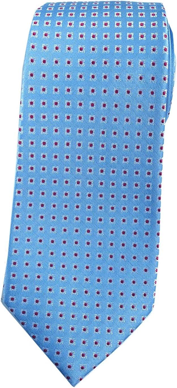 Towergem Extra Larga Seven Fold Corbata de 100% seda XL Azul/Rojo ...