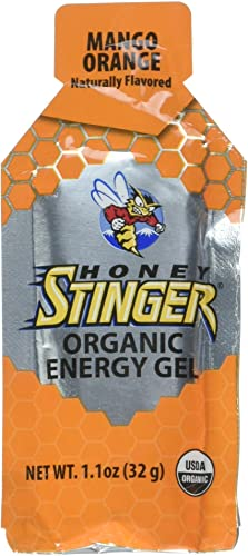 Honey Stinger Organic Energy Gel, Mango Orange, 1.1 Ounce Pack of 6
