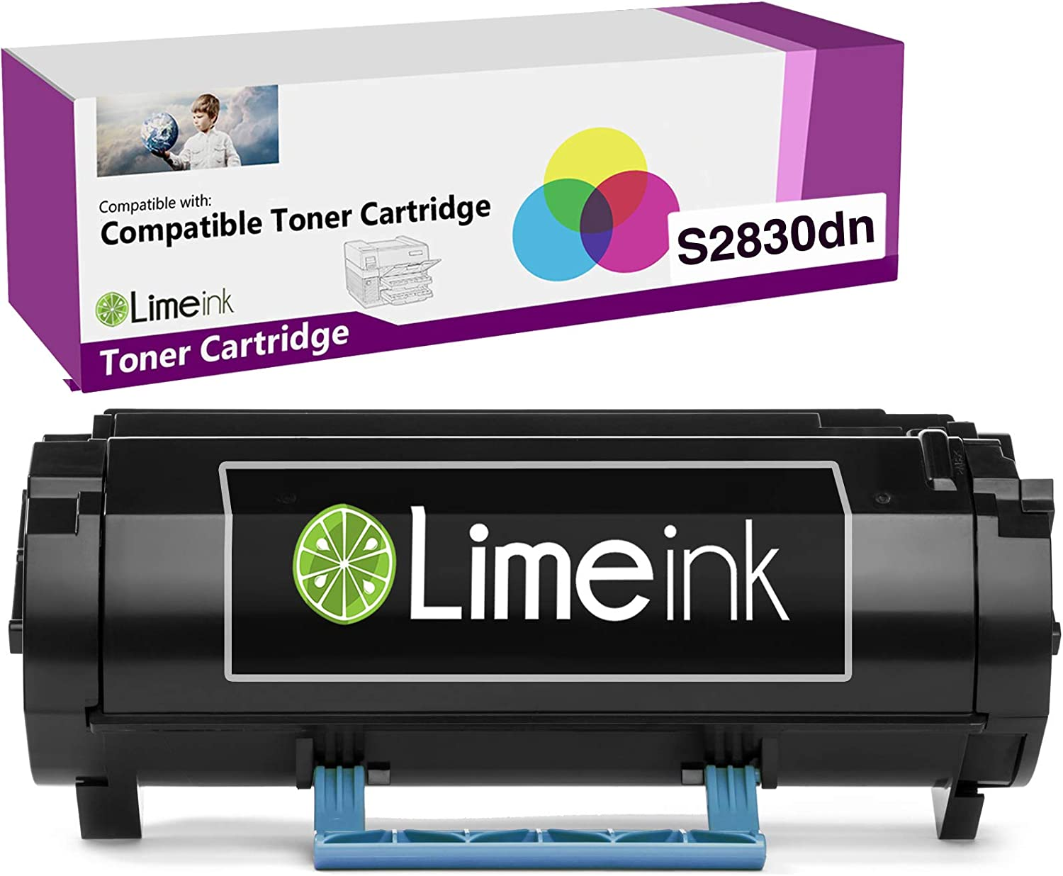 Limeink 1 Black Compatible S2830 High Yield Laser Toner Cartridge Replacement for Dell S2830dn S2830 2830 dn 2830dn Smart Series Printer Ink