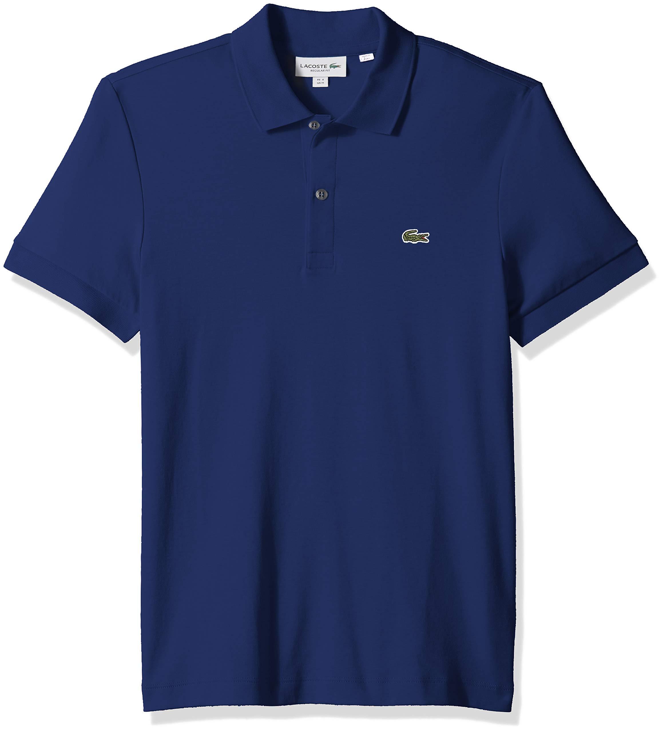 Lacoste Men's S/S PIMA Jersey Polo Interlock REG, Captain, Large