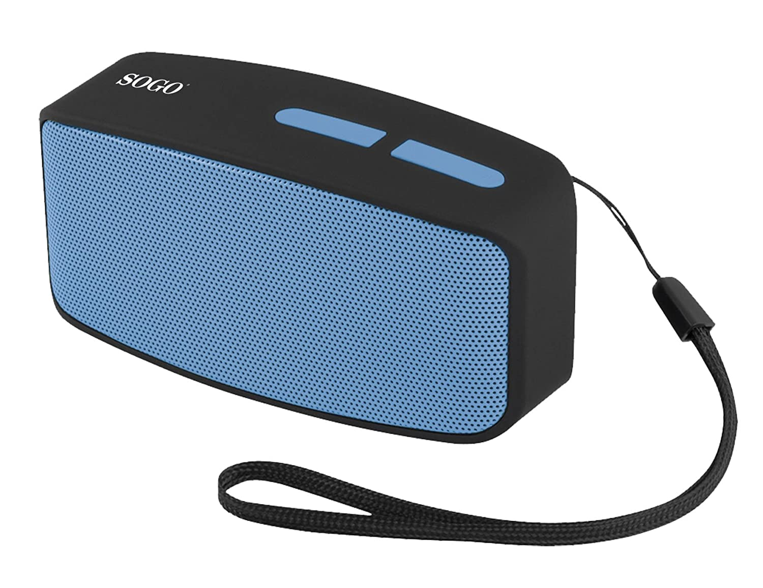 Sogo SS-8215-B - Altavoz portátil con Bluetooth, Radio FM, AUX IN, USB, Micro SD, Color Azul