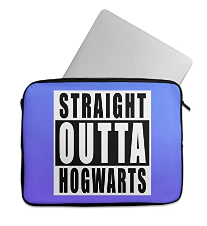 harry potter straight outta hogwarts black letters compton laptop sleeve laptop case neoprene 11 inch 13