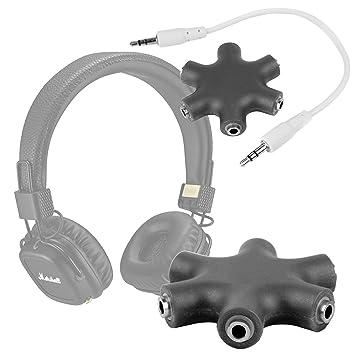 DURAGADGET Divisor De Auriculares Negro Para Auriculares Marshall Mode / Mode Android / Mode EQ Android