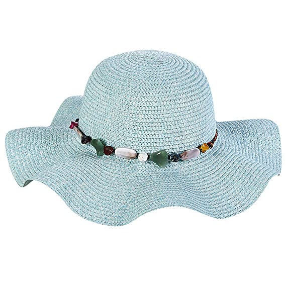 Staresen Sombrero Sombrero de Paja Playa Sombrero Gorro de Sol de Ocio al  Deporte Aire Libre Verano para Mujer Bohemia Verano de la Playa de la Paja  del ... aba46c709b4
