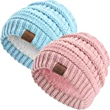 Anazalea Soft Warm Knitted Baby Beanie Hats Caps Cute Cozy Winter Infant Toddler Baby Beanies for Boys Girls