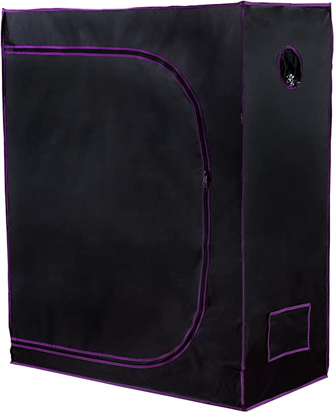 Apollo Horticulture 48x24x60 Mylar Hydroponic Grow Tent - The Best Heavy-Duty
