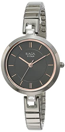6cdc4b1767c Buy Titan Raga Viva Analog Grey Dial Women s Watch - 2603QM01 Online ...