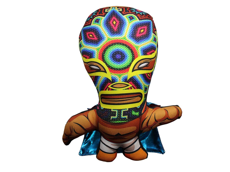 Collectible Exclusive Handmade Edition Lucha Libre Mexican Wrestler Huichol Face Veneno Toys Mexican Wrestler Doll