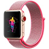 INTENY Sport Band for Apple Watch 38mm 40mm 42mm 44mm, Soft Lightweight Breathable Nylon Sport Loop Replacement Strap for iWatch Apple Watch Series 4, Series 3, Series 2, Series 1