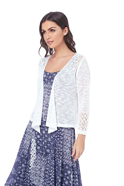 4f175320ba0 ... Needle Shrug - Cardigans Ladies Summer Spring Lightweight Cruise Outfit  Wedding Knitwear - Female Cover Up Knitted Jacket Shrugs  Amazon.co.uk   Clothing