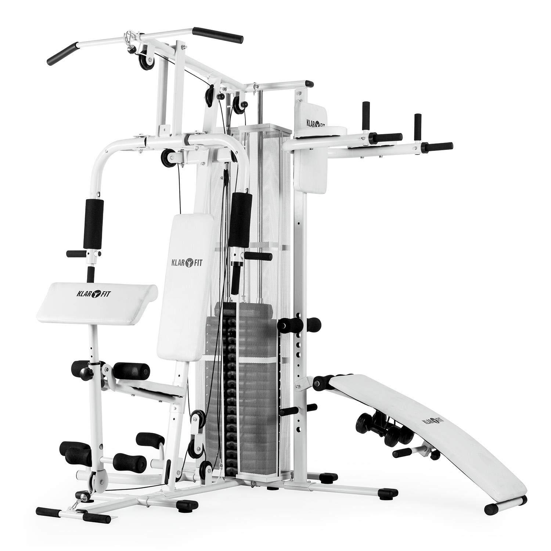 Klarfit Ultimate Gym • Multiestación de musculación • Pesos Ajustables y Poleas