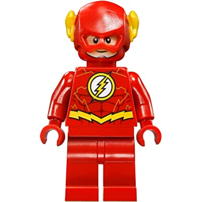 LEGO DC Comics Super Heroes Jusctice League Minifigure - Flash Gold Outline (76098): Toys & Games