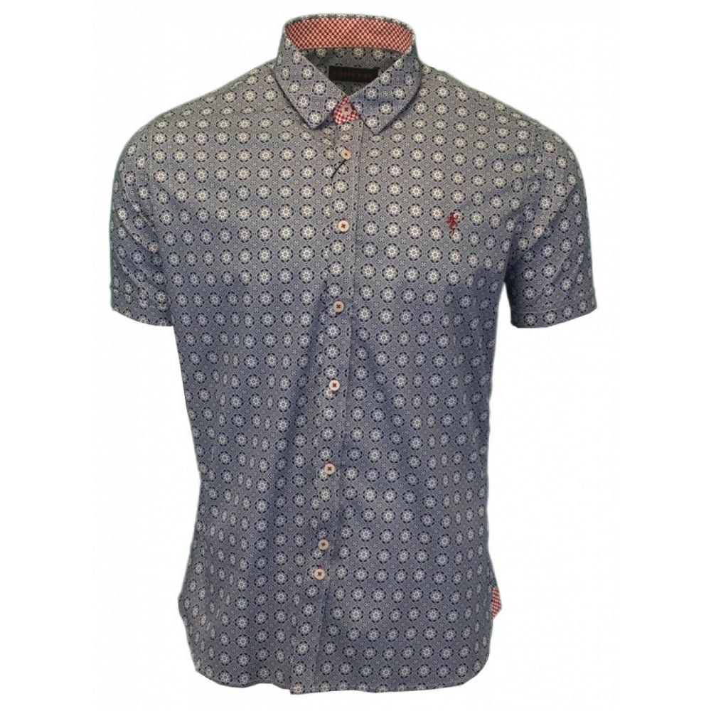 Lizard King Fashion Printed Short Sleeve Shirt