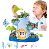 Vokodo Kids Magical Garden Growing Kit Includes Tools Seeds Soil Flower Plant Tree Interactive Play Fairy Toys Inspires…