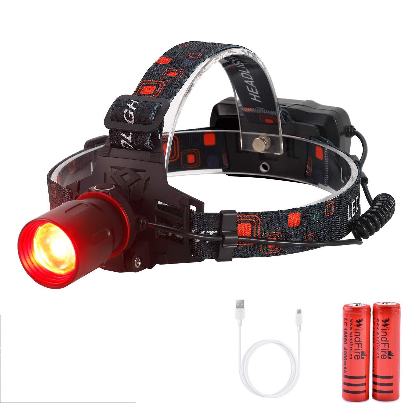 Puissante Torche Lampe /étanche et l/éger Pour La Course 3 Modes d/éclairage Phare Cycling LED Lampe Frontale USB Rechargeable La P/êche Le camping