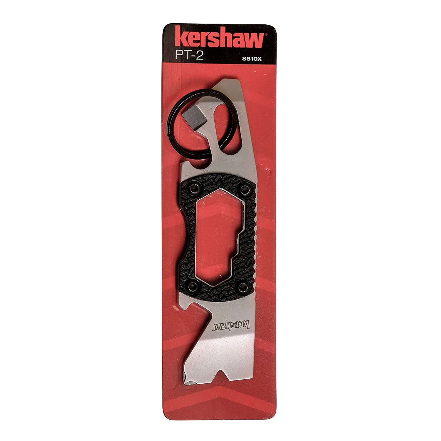 Kershaw PT-2 Compact Keychain Pry Tool (8810X); Features Bottle Opener, Two Screwdriver Tips, Pry Bar, Wire Scraper, Three Hex Drives; Made of ...