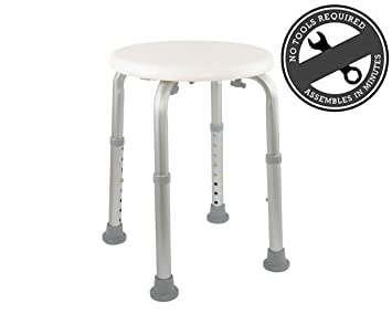Amazon.com: Medical Tool-Free Assembly Adjustable Shower Stool Tub ...