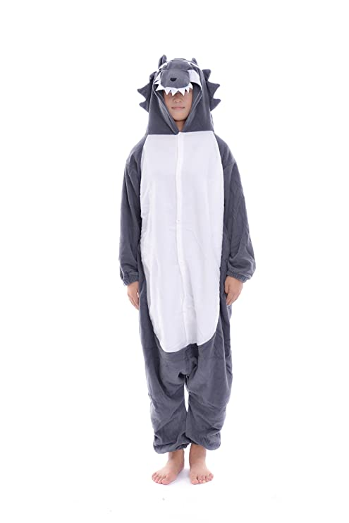 DAYAN Lobo Unisex Pijamas Adulto Anime Cosplay Ropa Pijamas Franela Hombre Mujer Dormir Animal Pyjama Caliente