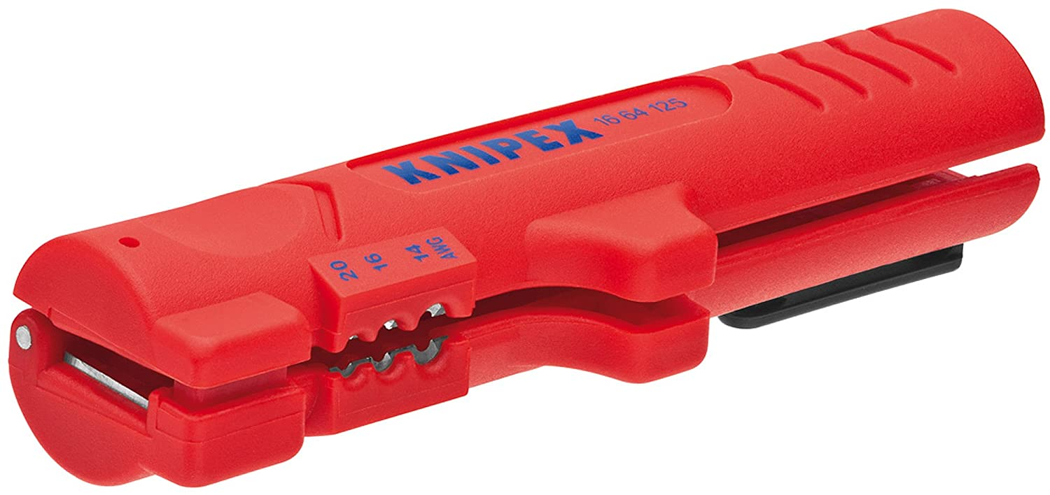 Knipex 16 64 125 SB Dismantling Tool for Flat and Round Cables 125 mm (Blister Packed), Multi-Colour