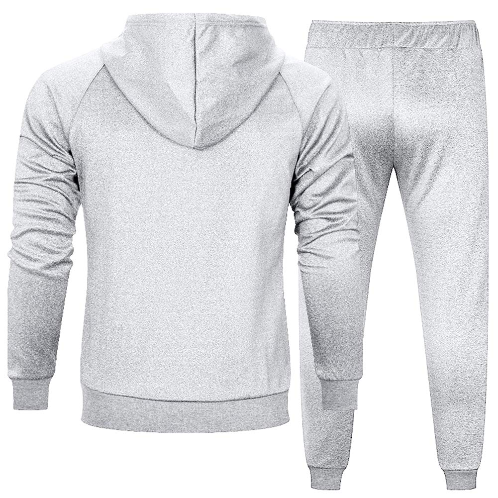 MANLUODANNI Mens Pullover Athletic Hoodie Jogger Sweat Suit Running Tracksuit