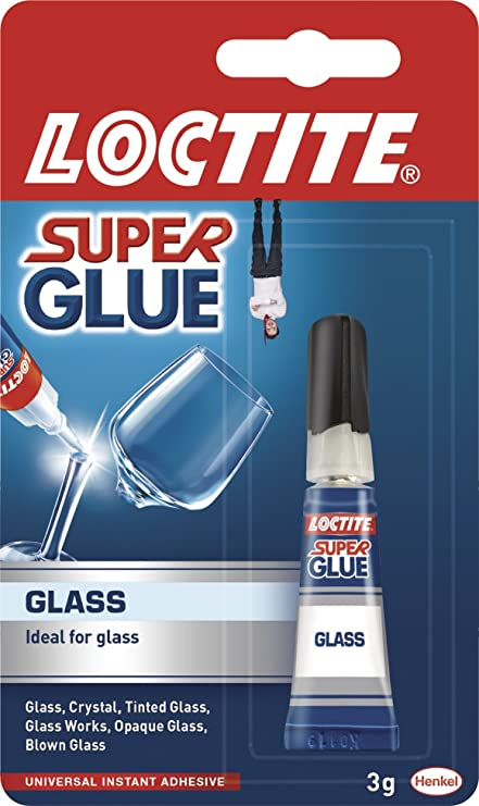 Loctite Super Glue Tube for Glass - 3 ml: Amazon.co.uk: DIY & Tools