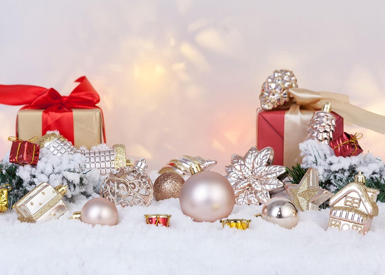 Amazoncom AMS 72ct Christmas Ball Assorted Pendant Shatterproof