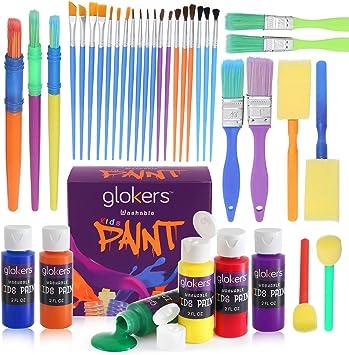12 ASSORTED PLASTIC PAINT BRUSHES for Kids Children Arts /& Craft Creative Fun