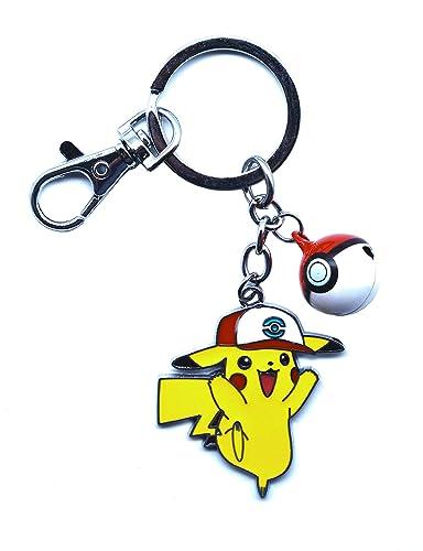 Anime Domain Llavero de Pokemon con Figura de Pikachu(A ...