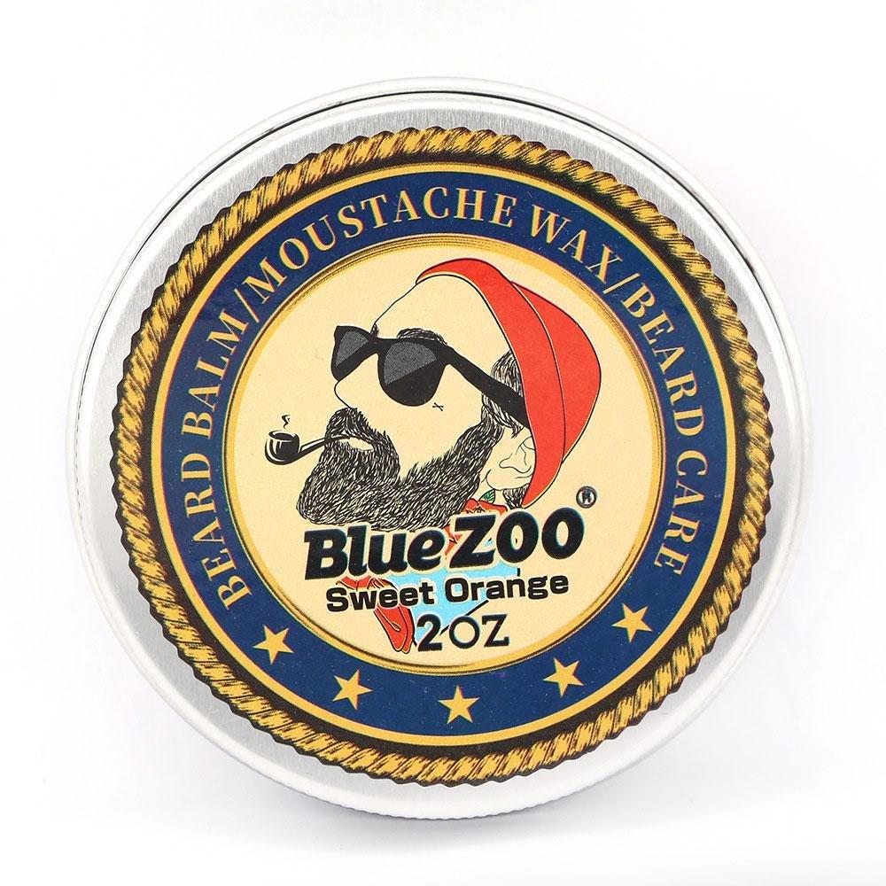 Acondicionador Barba Blue Zoo B/álsamo de Barba Aceite de Cuidado de Barba de Hombres Afrutados Org/ánicos Naturales Puros