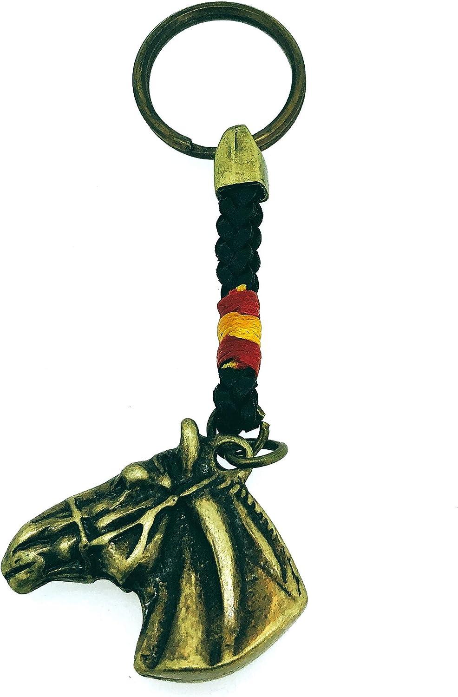 Gemelolandia Llavero Cabeza de Caballo con Bandera de España: Amazon.es: Ropa y accesorios