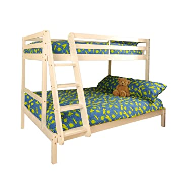 Comfy Living Triple Wooden Pine Bunk Bed 3ft 4ft In A White Wash