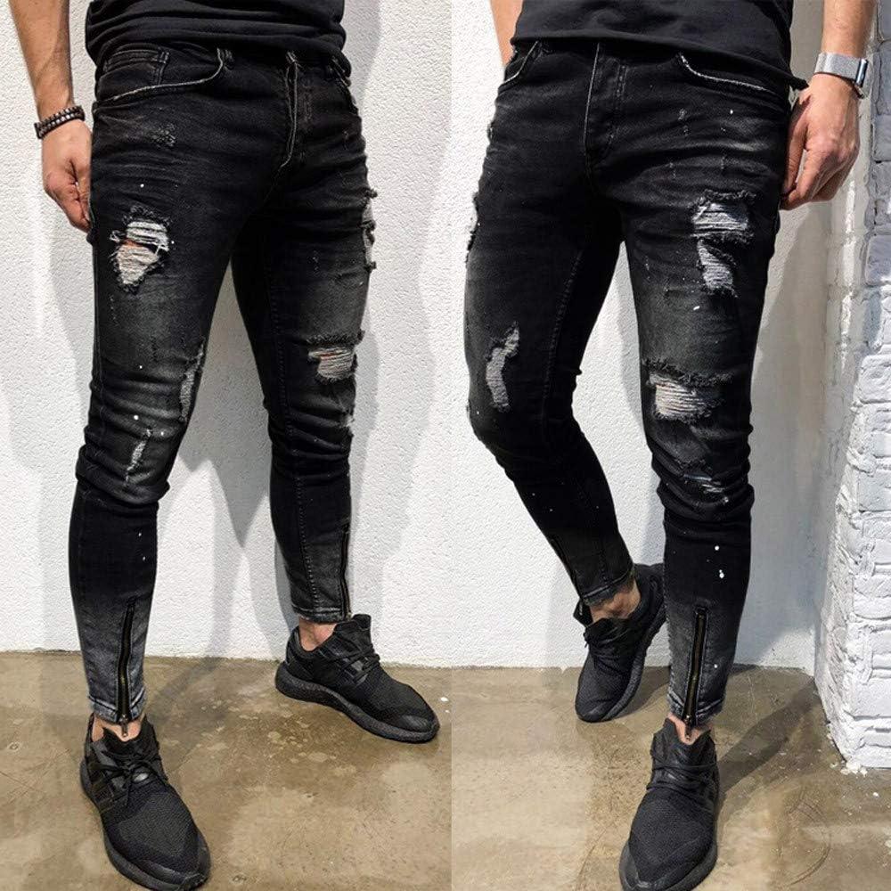 Hombre Pantalones De Mezclilla Elasticos Flacos Para Hombre Pantalones Vaqueros Rotos Hombre Jeans Ajustados Rasgados Desgastados Xinantime Pantalones De Hombres Ropa Grupobrtelecom Com Br