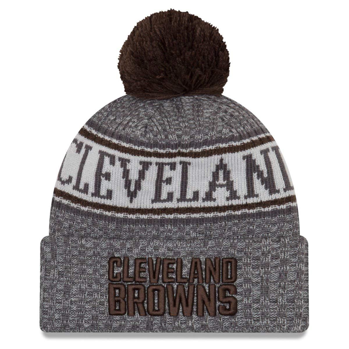 Amazon.com  New Era Cleveland Browns Gray Graphite Sport Knit NFL 2018  Beanie Unisex Hat 52dce370e