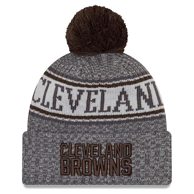 75877afeefc Amazon.com  New Era Cleveland Browns Gray Graphite Sport Knit NFL ...