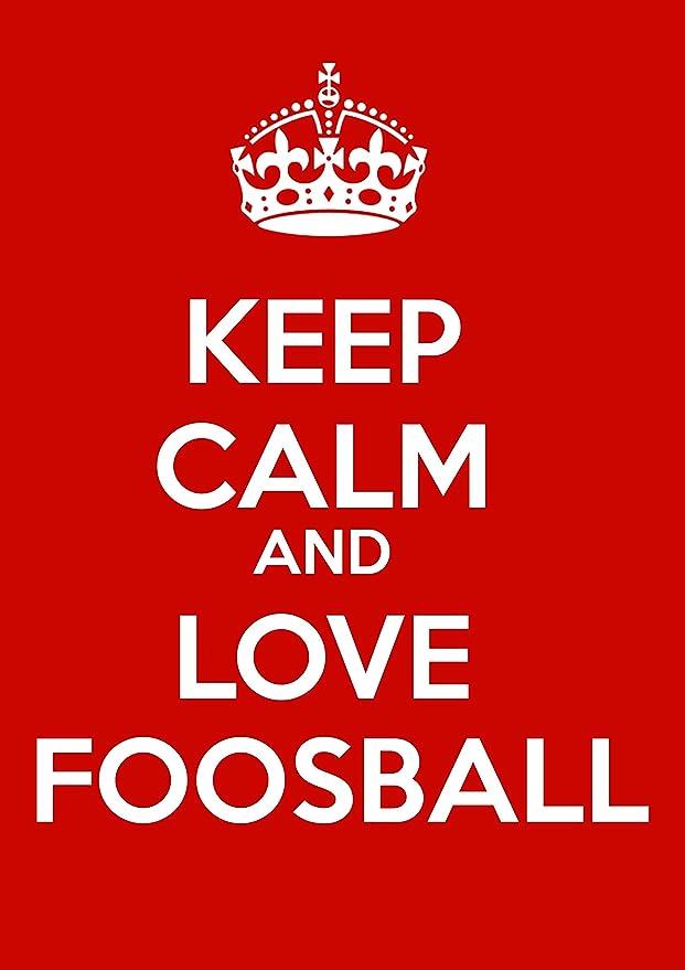 SIGNS 2 ALL Keep Calm and Love futbolín señal metálica, Aluminio, Multicolor, 20 x 15 x 1 cm: Amazon.es: Hogar