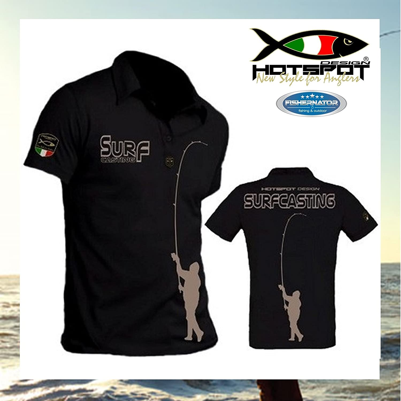 Hotspot Design Surf Casting - Polo de pesca para hombre Talla:M ...