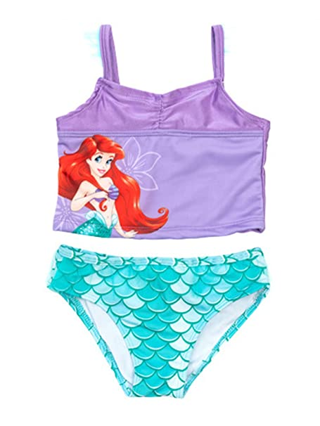 ab0d52fb56 Amazon.com: PCLOUD The Little Mermaid Ariel Little Girls Toddler Tankini  Swimsuit: Clothing