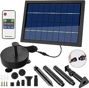 COCOMIA 8W Solar Fuente Bomba, LED Solar Bomba de Estanque Kit, Fuente de Jardín Solar para Estanque de Jardín y Fuentes de La Bomba de Fuente Solar Bomba de Agua con Soporte