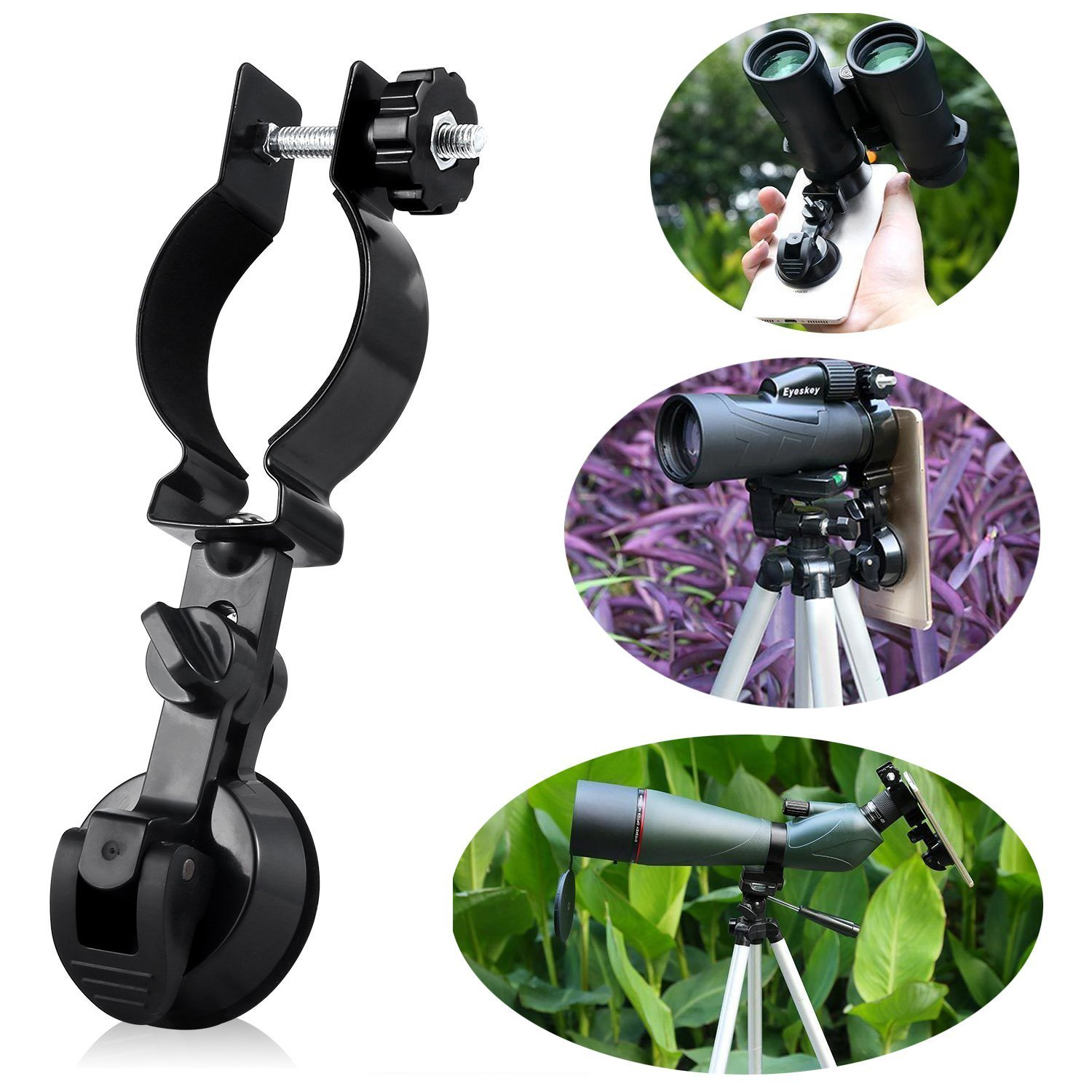 [NEW] Eyeskey Universal Portable Cellphone Adapter/Mobile Device Holder, Compatible with Binoculars, Monocular Spotting Scope, Microscope and Astronomical Telescope, 85g(3oz)